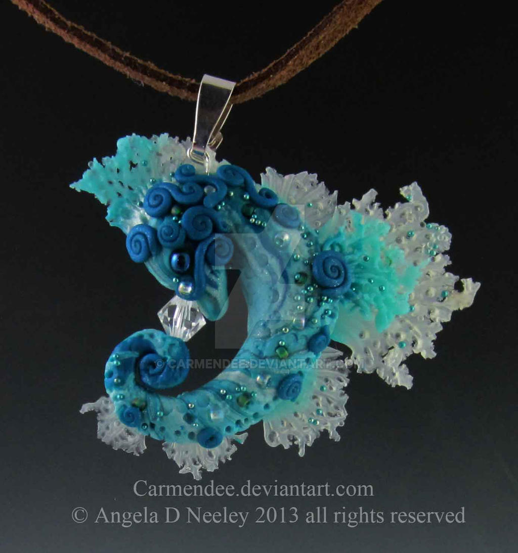 teal sea horse by carmendee