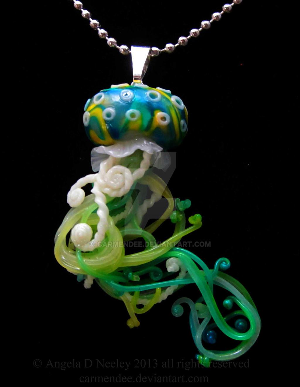 jellyfish pendant by carmendee on deviantart