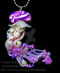 pink and purple jellyfish necklace