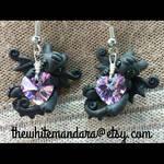 purple heart night-furry toothless earrings