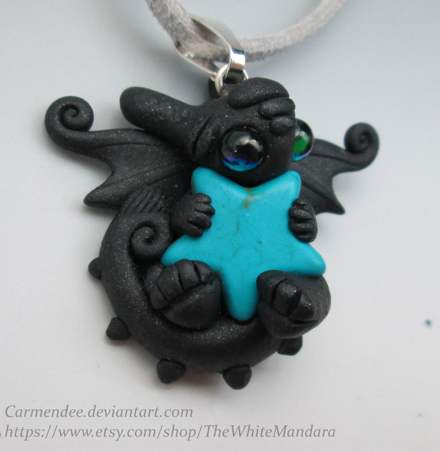 Toothless Turquoises Star Cuddle Necklace by carmendee