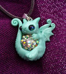 little pouty dragon baby necklace