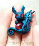 Pretty Little  Red Gem Dragon