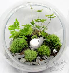 Totoro fan art living terrarium Ghibli
