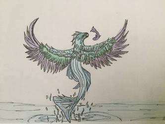 Avicis - half fish, half bird by DragonShadow2