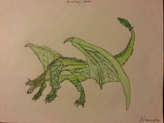 Green Dragon by DragonShadow2