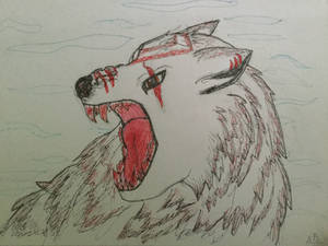 Angry White Wolf