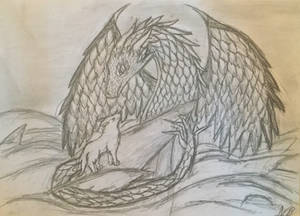 Wolf and dragon of Water