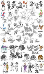 HeartGold Animation Character Sketches by GreenLinzerd