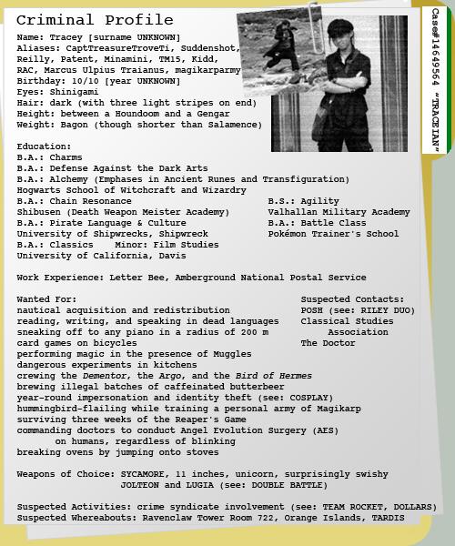 Criminal Profile I By Handstobraces