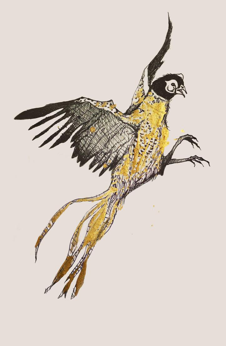 golden pheasant by izabelle-imam