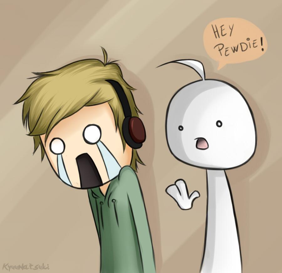 HEY PEWDIE - PewDiePie and Cry by KyuuNatsuki on DeviantArt