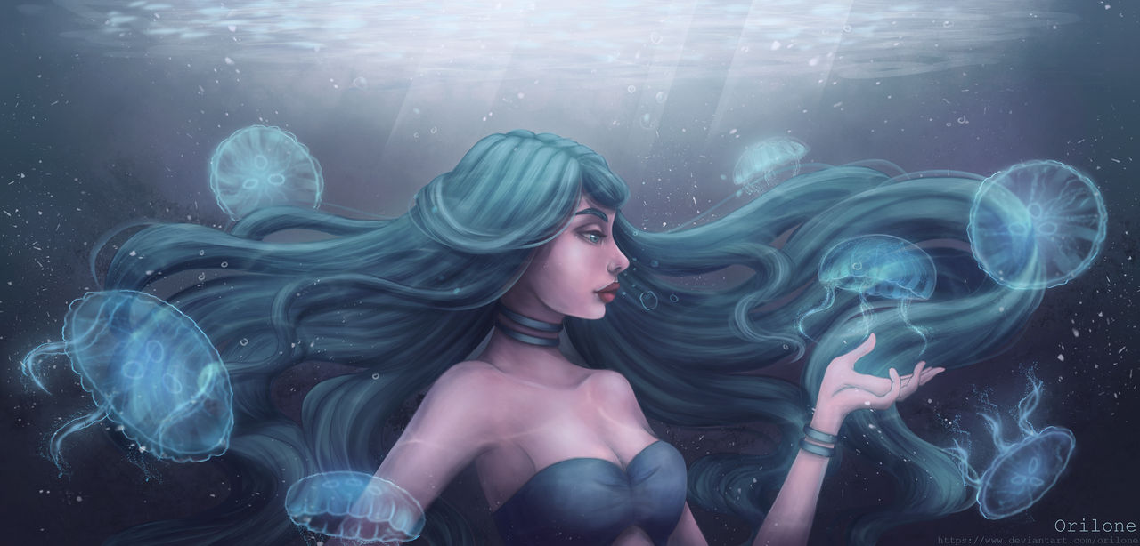 YCH Commision: Under the water by Orilone
