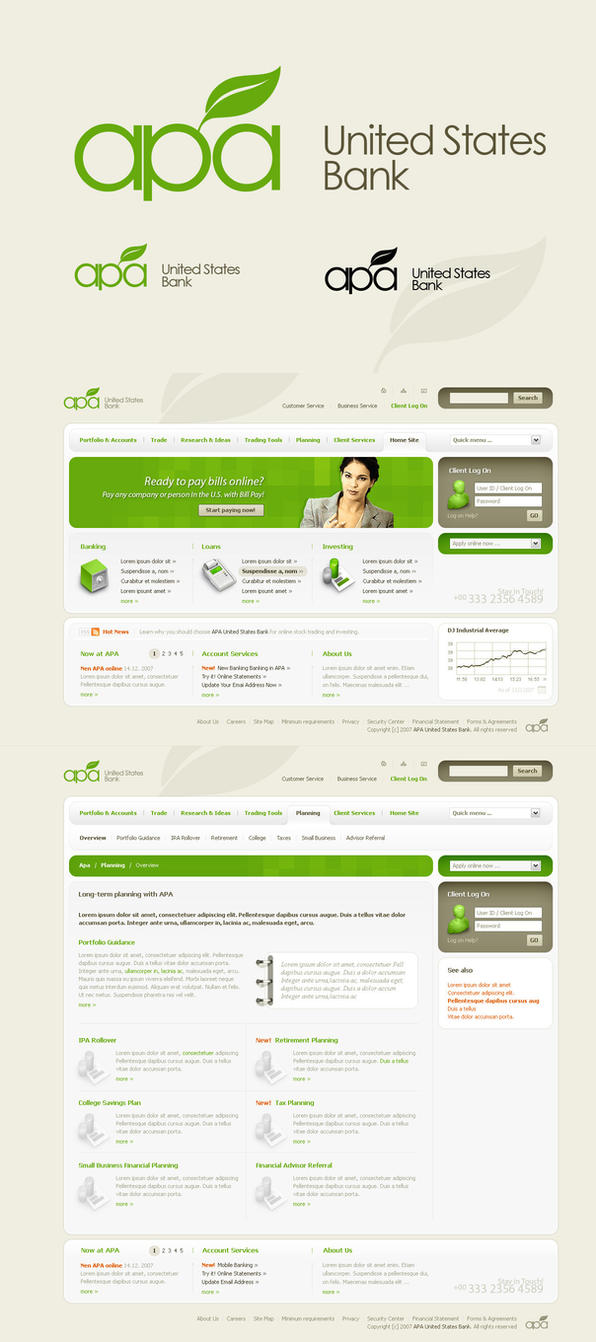 APA logo and web design by sone-pl