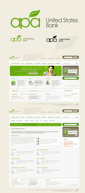 APA logo and web design