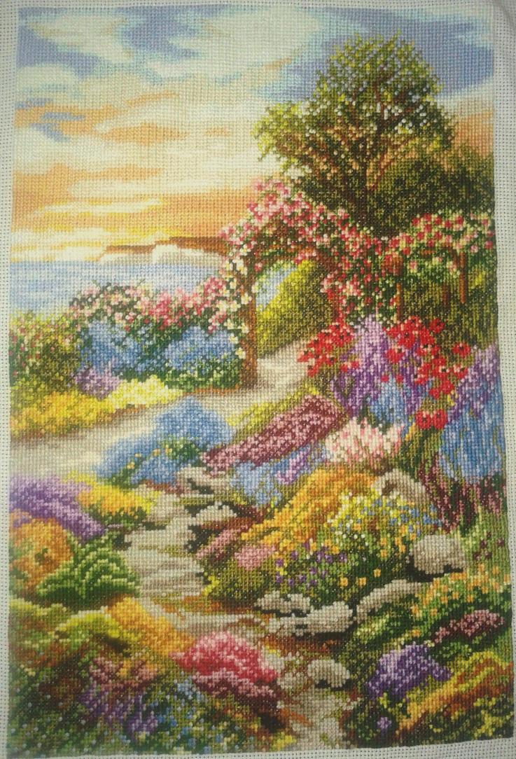 Colorful garden by Najelen
