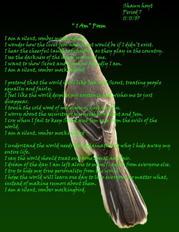 I Am Poem TKAM by Raiku811 on DeviantArt