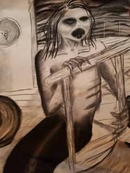 Scary Mermaid  by WinrysArt