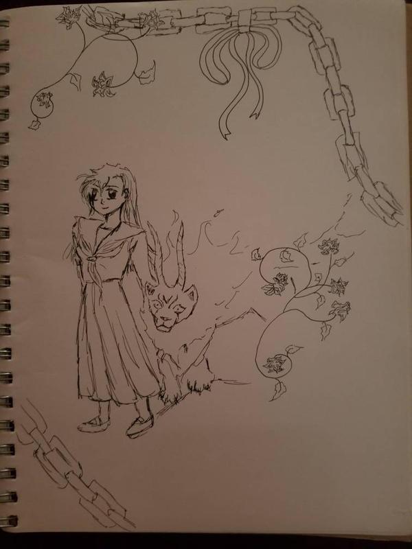 Her Majesties dog-sketch by WinrysArt