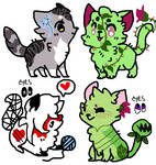 3 point kitties! //CLOSED!!