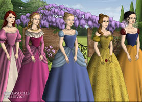Disney Princess Court Tudor Style Part 1 by InuyashaRules6596