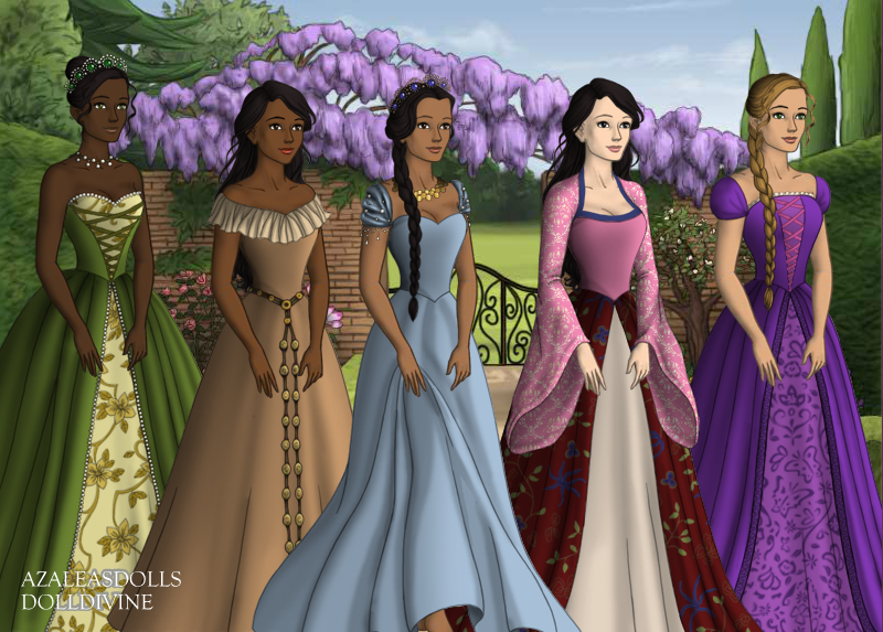 Disney Princess Court Tudor Style Part 2 by InuyashaRules6596