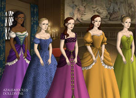 Disney Princess Court Tudor Style Part 3 by InuyashaRules6596