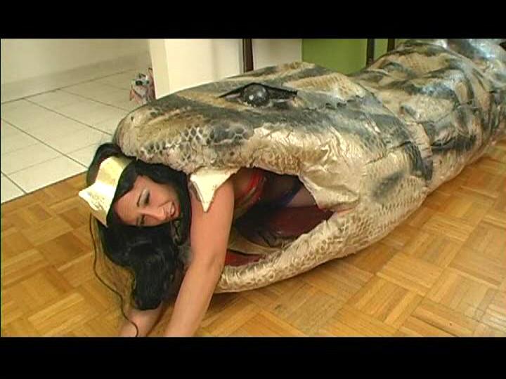 Wonder woman is snake food by ebrummer