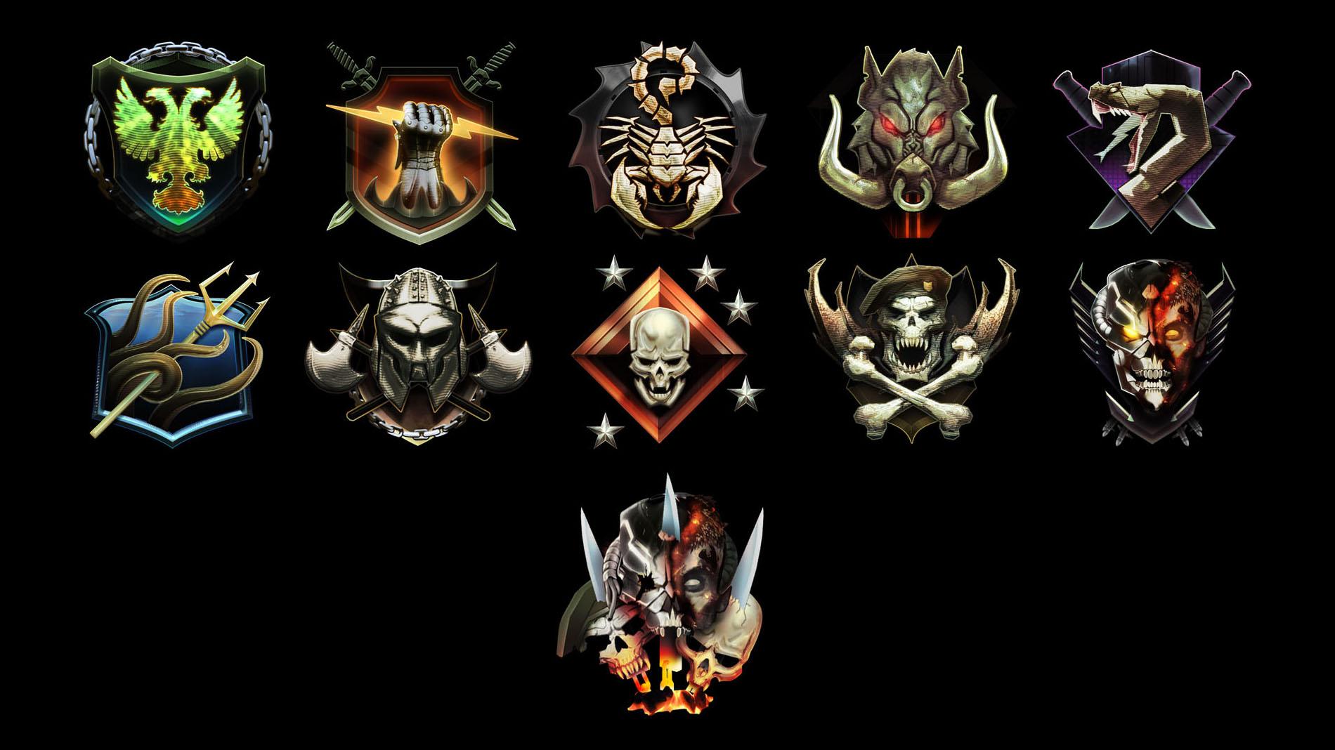 Black Ops 2 Prestige Emblems wallpaper