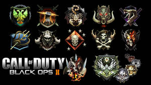 Prestige and League rank emblems for Black Ops 2