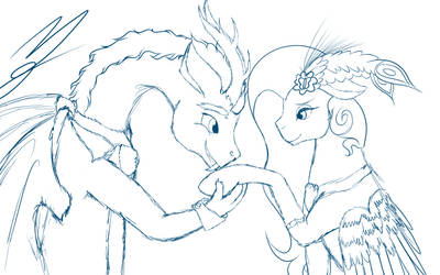 Sketch 'May I have this dance my dear?' by NightmareDerpy