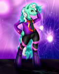 Anthro Lyra Heartstrings (First Try) by NightmareDerpy