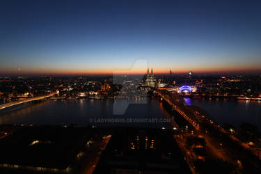 Cologne Skyline by Night