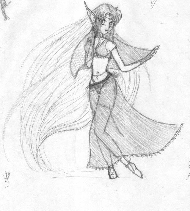Kisa bellydancing by Yukiko-chan