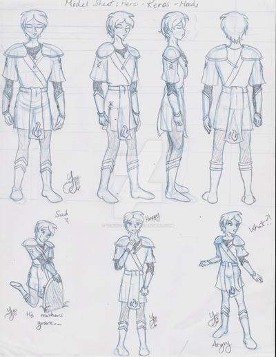 Keros - Character Model sheet by Yukiko-chan