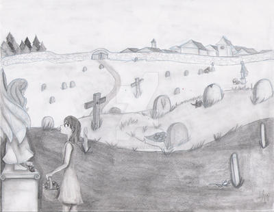 Girl in the Cemetery. by Yukiko-chan