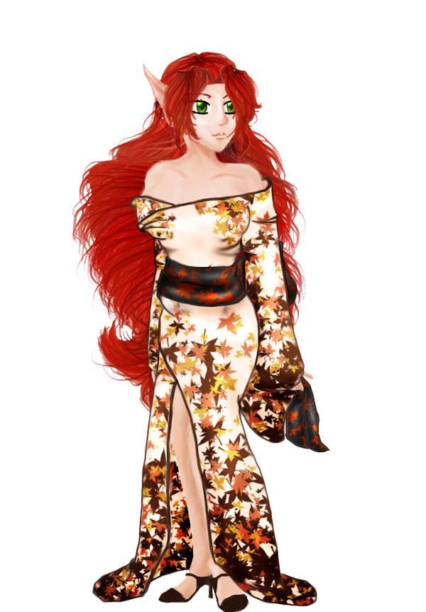 Nightshade in Kimono.. by Yukiko-chan