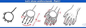 Anthro hand tutorial part I by Mutabi