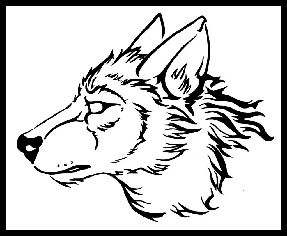 Wolf Line Drawing Tattoo : Wolf head naturama certificate by mutabi on deviantart