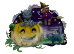 DrawingBlue and Mutabi Halloween