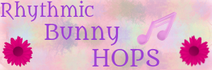 Rhythmic Bunny Hops - Rabbitry Logo Banner by KharmaScribbles