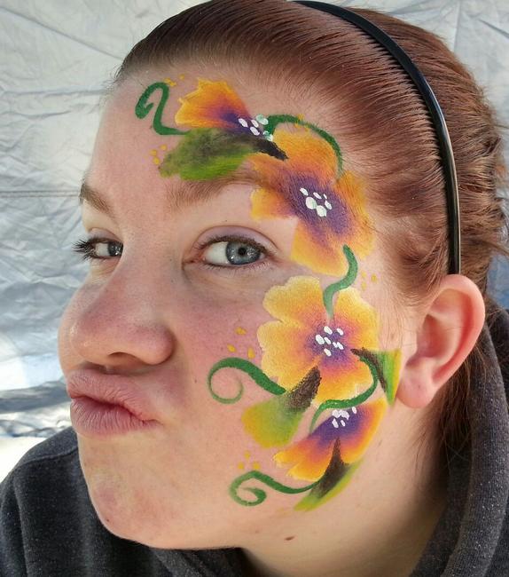 Hawaiian Flower Face Paint by Cheekydesignz ...