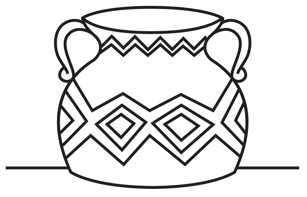 v is for vase coloring pages - photo #11