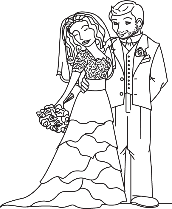 Bride And Groom Coloring Page By Cheekydesignz On Deviantart And Groom Coloring Pages