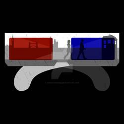 3D Glasses Shirt by Cheekydesignz