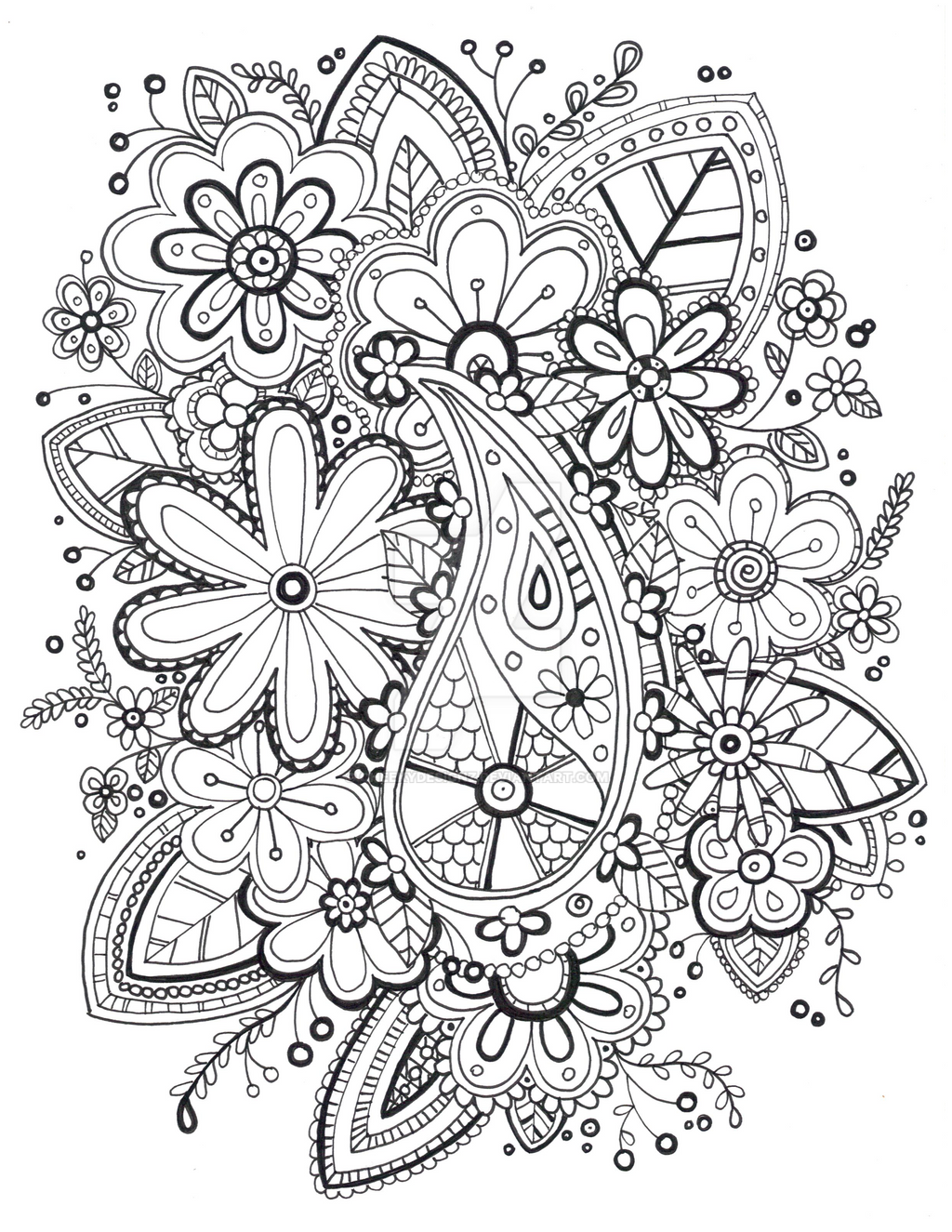 zentangle coloring page by cheekydesignz zentangle coloring page by cheekydesignz - Zentangle Coloring Book