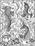 Koi Coloring Page