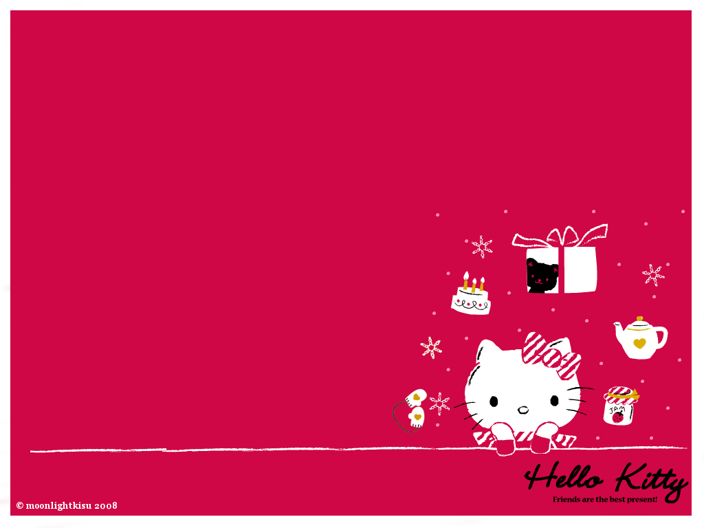 hello kitty winter wallpaper