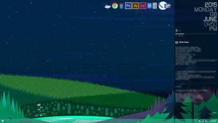 Designy Desktop (2015) - Windows 8.1 + Rainmeter by moonlightkisu