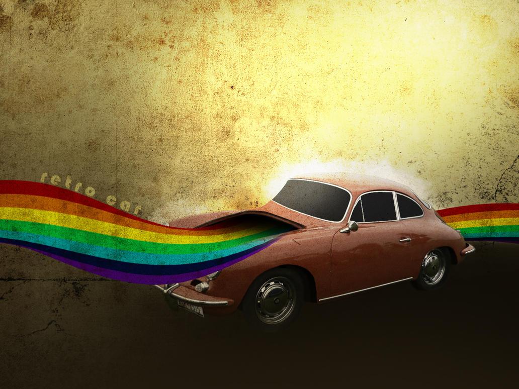 Retro Car Wallpaper by Mr-Heli